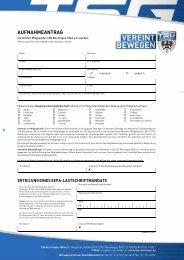 TSG Reutlingen Mitgliedsantrag Stand 01012019