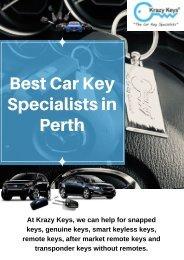 Best Car Locksmith Service in Perth - Krazy Keys