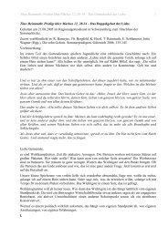 Predigt Mk 12 Doppelgebot der Liebe - Titus Reinmuths Homepage