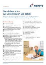 Aufgaben vor, während und nach einem Umzug (pdf - Mainova AG