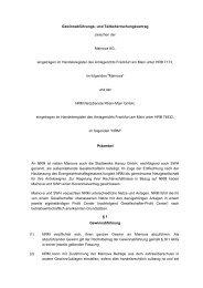Gewinnabführungs- und Teilbeherrschungsvertrag - Mainova AG