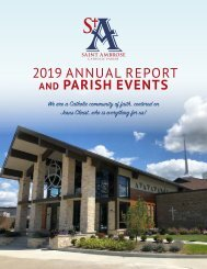 Saint Ambrose Annual Report 2019