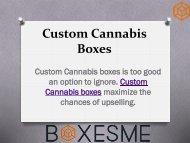 Custom Cannabis Boxes Wholesale