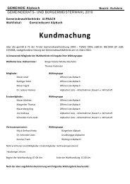 Kundmachung - Alpbach