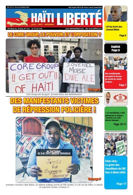 Haiti Liberte 2 Octobre 2019