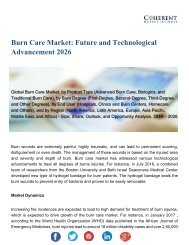 Burn Care Market Necessity and Demand 2019 to 2026