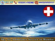 Rent Air Ambulance from Mumbai with A to Z Medical Solution