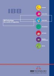 IBB Gesamt Prospekt 1/03 - IBB TECHNOLOGY GmbH