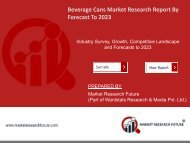 Beverage Cans Market Research Report - Global Forecast to 2023