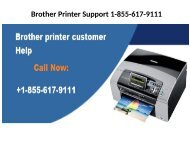 Brother Printer Support 1-855-617-9111