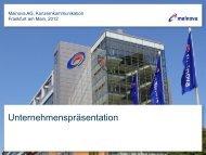1. Trainee-Netzwerktreffen Jahrgang 2010 - Mainova AG