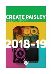 CREATE Paisley Annual Report 2018-19