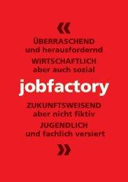 Jobfactory Infobroschüre