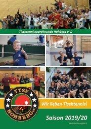 Saisonheft TTSF Hohberg 2019/2020