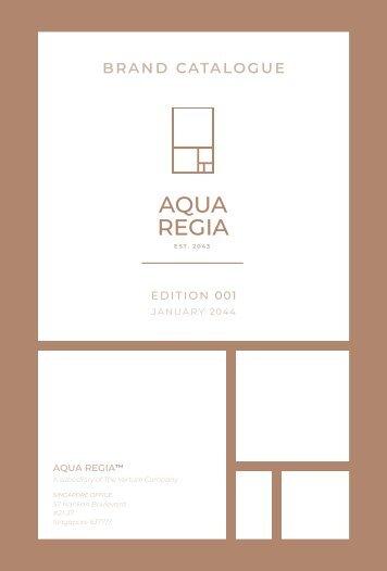 Aqua Regia Brand Catalogue - Pages
