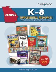 Georgia K-8 Supplemental Resources Catalog