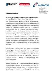 Vertragsunterzeichnung book-n-drive - Mainova AG