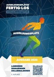 AUSBILDUNGSPLÄTZE - FERTIG - LOS | Landkreis Sigmaringen, Zollernalbkreis 2020