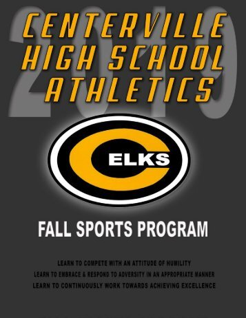 2019 Centerville Athletics Fall Program Book