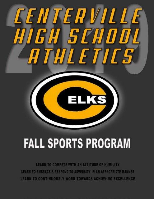2019 Centerville Athletics Fall Program Book