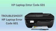 HP Laptop Error Code 601