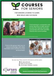 Courses For Seniors