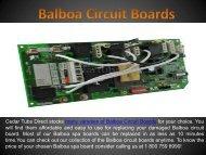 Balboa Circuit Boards