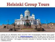 Helsinki Group Tours