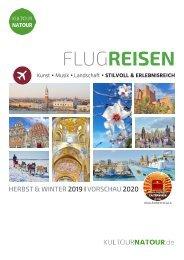 FLUGREISEN 2019 I 2020 • Reisekatalog  Oktober bis September