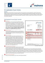 Explanation of the heating bill for customers with