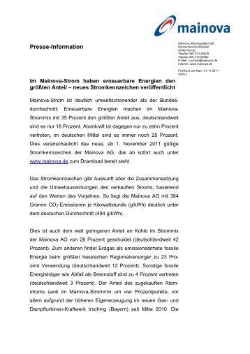 PM: Stromkennzeichnung (pdf | 0,03 MB) - Mainova AG
