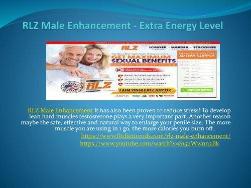 RLZ Male Enhancement - Provides Longer And Harder