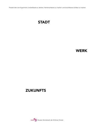 Zukunfts Werk Stadt_Das Buch