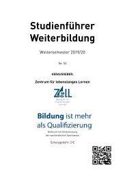 Studienführer Weiterbildung WS 2019/2020