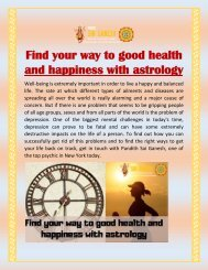 Find your way to good health and happiness with astrology