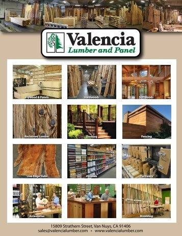 Valencia Lumber and Panel Product Catalog