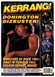 kerrang 355 august 1991
