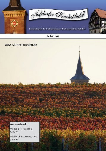 Kerchebläddl Herbst 2019