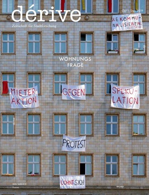 Wohnungsfrage / dérive - Zeitschrift für Stadtforschung, Heft 77 (4/2019)