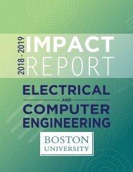 Boston University ECE Department's Impact Report 2018-2019