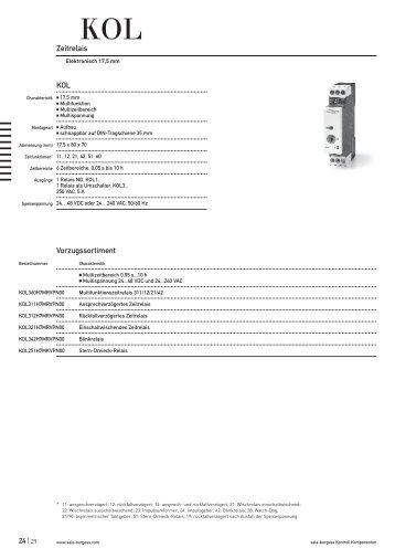KOL Zeitrelais Elektronisch 17,5 mm