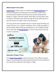 What Is Super P Force Used For