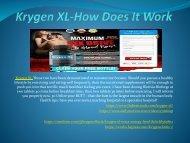 Krygen XL  - New Levels Of Stamina
