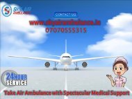 Trusted Air Ambulance Service in Provider in Ranchi and Raipur