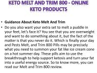 Keto Melt and Trim 800 - Online Keto Products