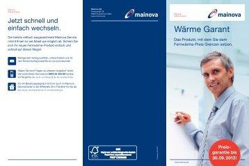 Flyer Festpreisangebot Wärme Garant (pdf | 0,13 MB - Mainova AG