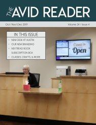 The Avid Reader Issue 24.4 - Oct/Nov/Dec 2019