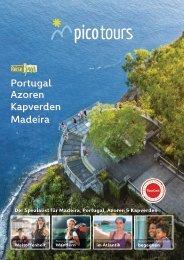 picotours Reisekatalog 2021 Azoren Madeira Portugal Kapverden