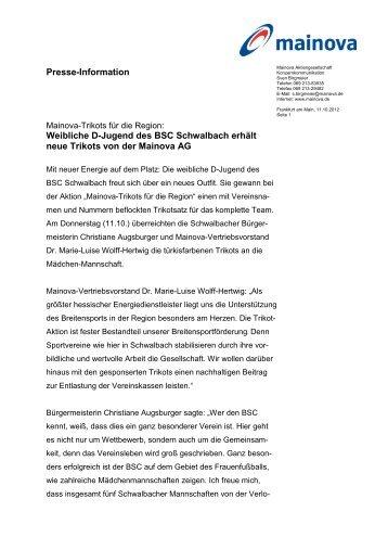 Trikotübergabe Schwalbach_11102012 - Mainova AG