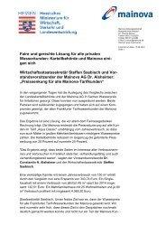 Faire und gerechte Lösung für alle privaten ... - Mainova AG